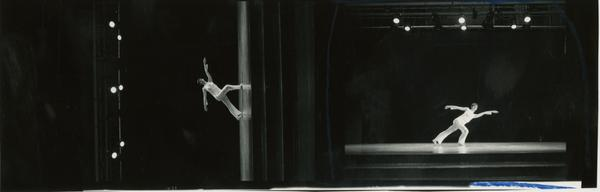 Contact prints of dancer on stage