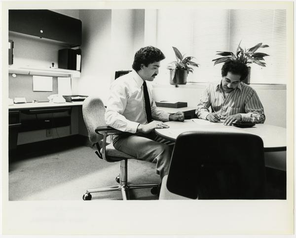 Medical Center Admissions Manager admitting patient, 1983