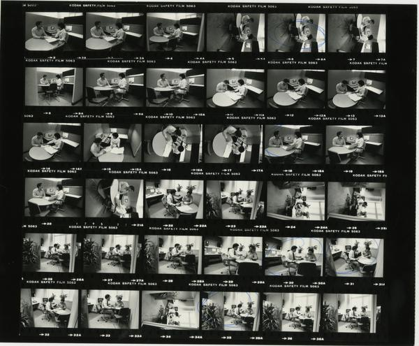 Patient Admitting, Contact Sheet, 1983