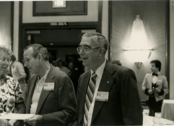 Dentists talk at UCLA Alumni Dentistry Luncheon (5/1984)