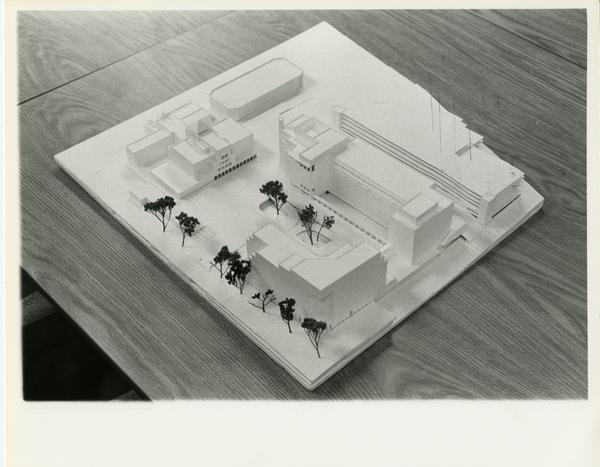 Architect's model of UCLA Ambulatory Care Complex