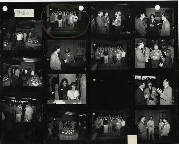 Contact sheet of School of Dentistry Apollonian Society alumni event, 1981