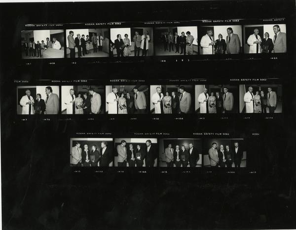 Contact sheet of John Adams Award, 1981