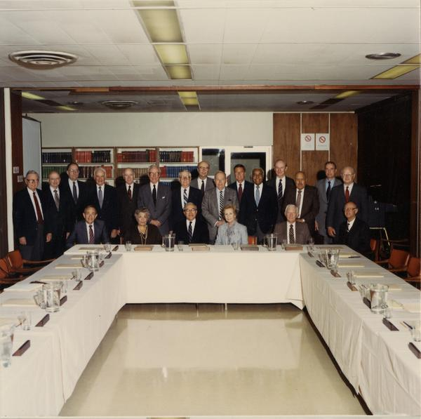 Group portrait of Board of Visitors, 1986