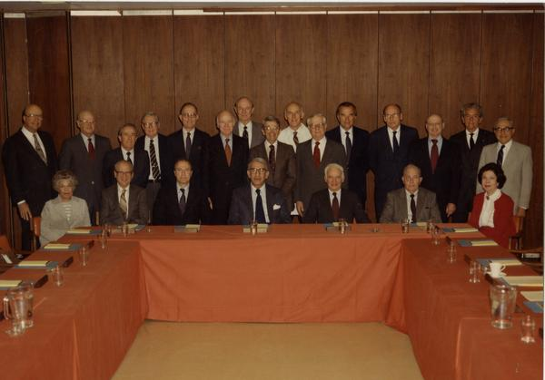 Group portrait of School of Medicine Board of Visitors, 1983