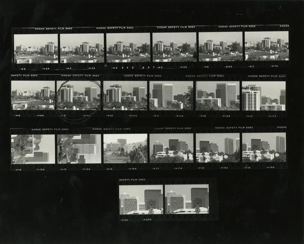 Contact sheet of buildings