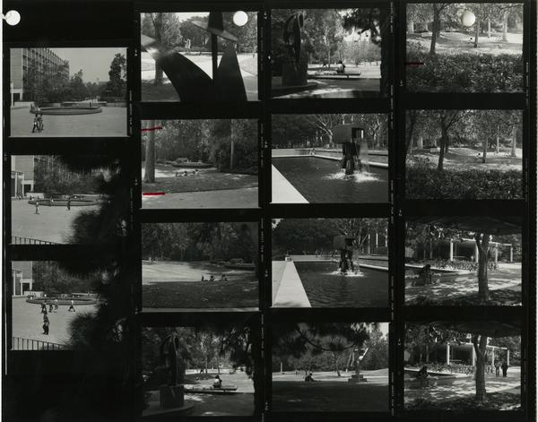 Contact sheet of UCLA Campus (1981)