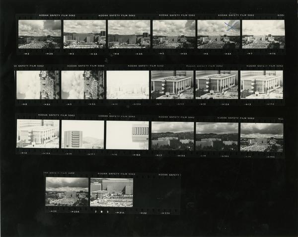 Contact sheet of Medical Center from Horizons - Campus Scenes (3/20/1981)