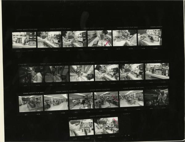 Contact sheet of Clinical Labs for Annual Report, 1979-1980