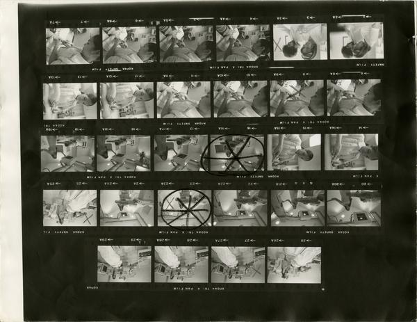 Contact sheet of Computerized Tomography Simulater in use