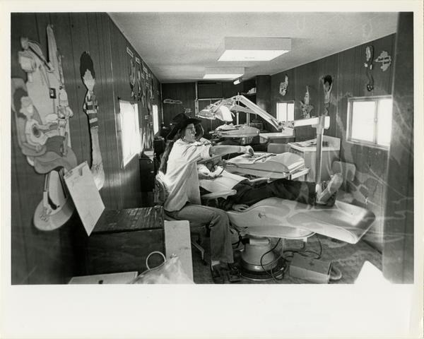 Interior view of Dental Mobile Clinic, 1981
