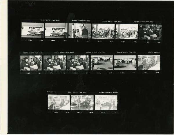 Contact sheet of Mobile Dental Clinic, 1981
