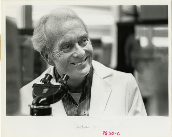 Portrait of dentist in Dental Research Institute