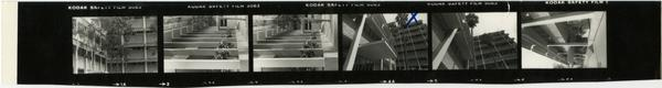 Contact sheet of views of Dentistry school building, 1980