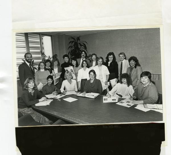 Group portrait of MediScene Editorial Board, 1985