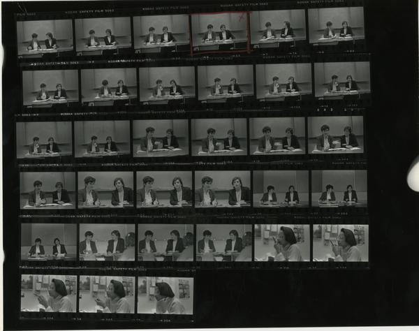 Contact sheet of volunteers and teachers that are part of the Employee Enrichment Program, 1984