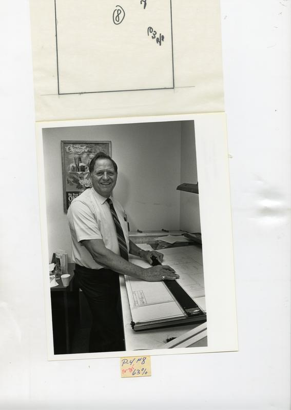 Portrait of Ed Montana of the Facilities Management Department, 1985