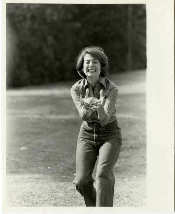 Scene from Dentistry family picnic, with Judith Angel (1982)