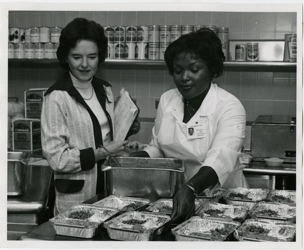 UCLA Medical Center food service employees at work