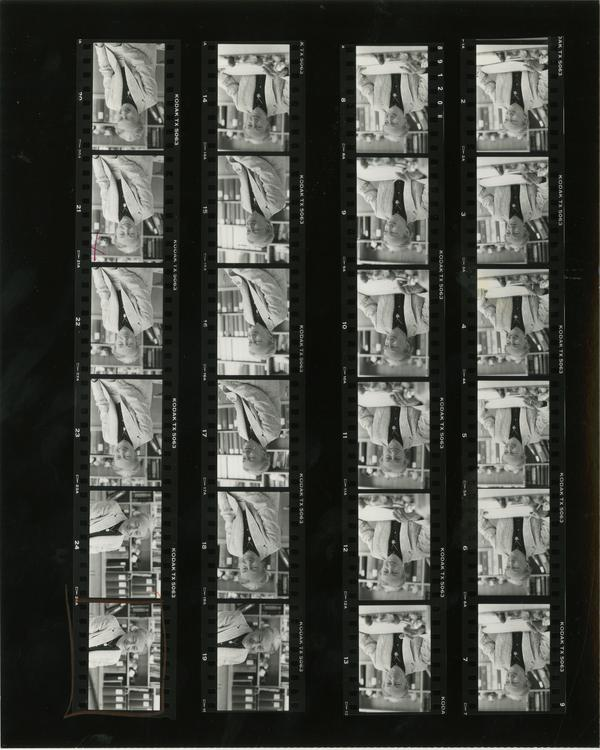 Contact sheet of Beth Unger (5/8/1986)