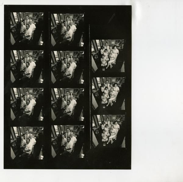 Contact sheet of group portrait of dental practice group