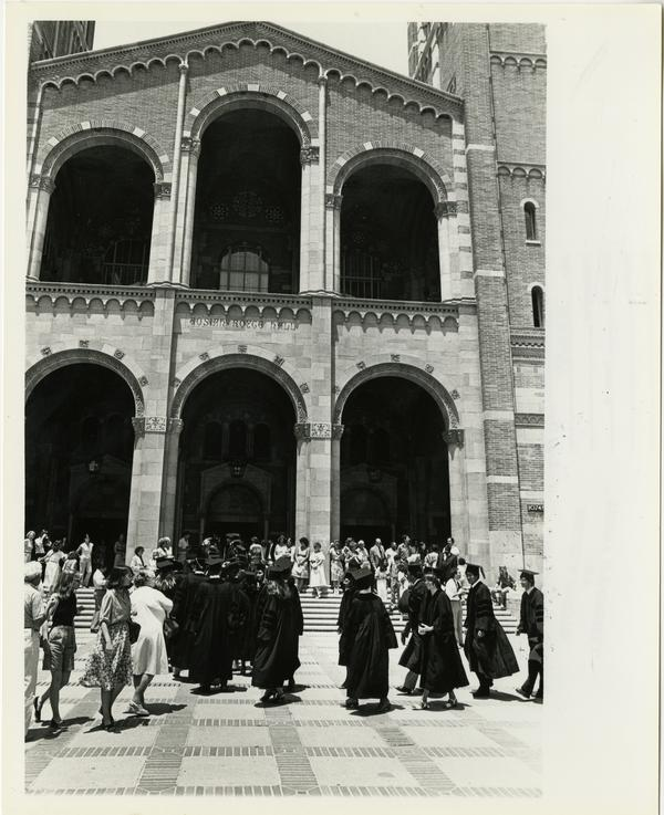 View of Royce Hall during School of Medicine graduation, 1981