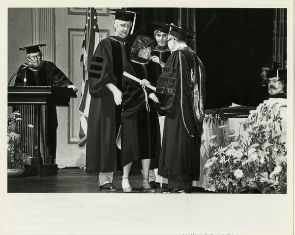 Graduate of School of Medicine receiving degree, 1981