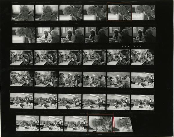 Contact sheet of Israel Levin Seniors Center in Venice (10/9/1984)