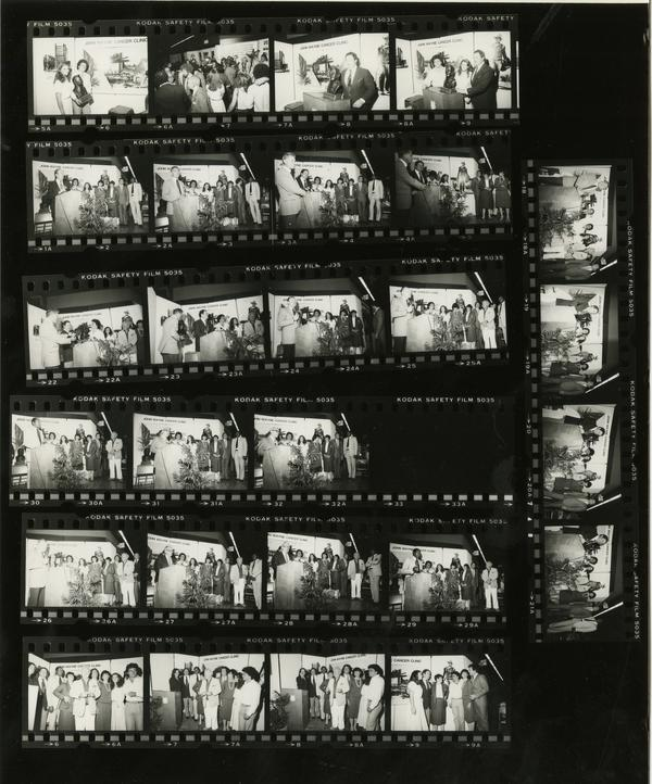Contact sheet of John Wayne Center Clinic Dedication (3/24/1981)