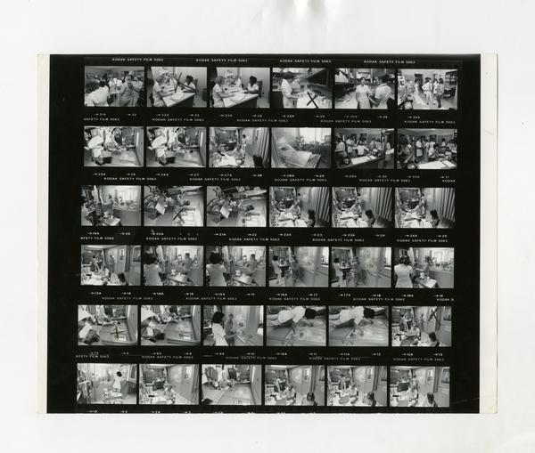 Contact sheet featuring portraits for the Annual Report