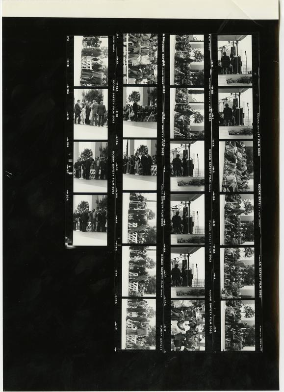 Contact sheet of Jules Stein Eye Institute photographs, 1981
