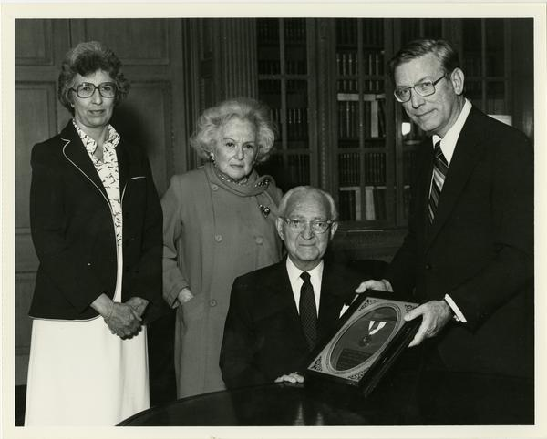 Jules Stein being awarded the Leslie Gold Medal