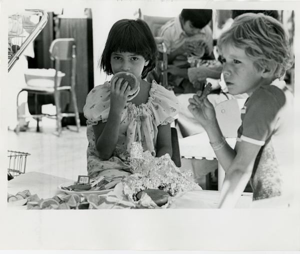 Children eating at Marion Davies Children's Center