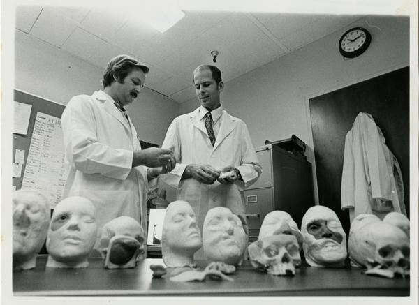 Dentistry - Maxillofacial lab / Dr. John Beumer and Maurice Helland (R)