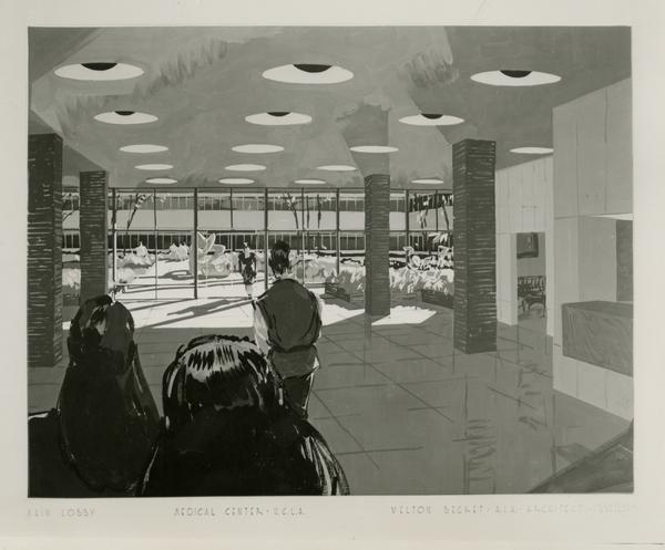 UCLA Medical Center - Main lobby by Welton Becket