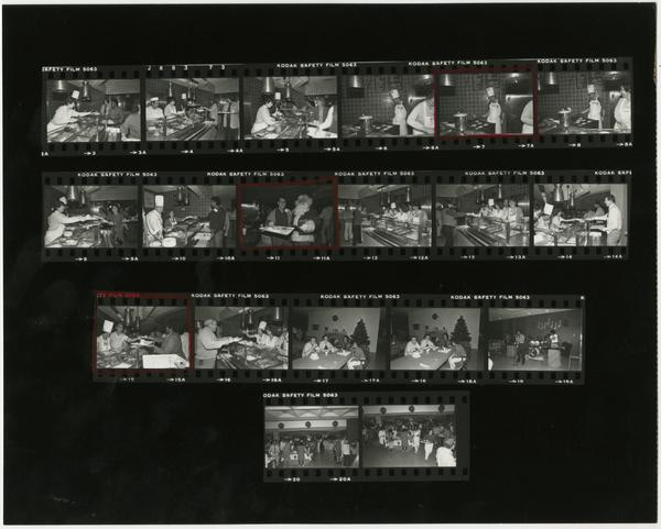 contact sheet of Medical Center Breakfast (12/11/1984)