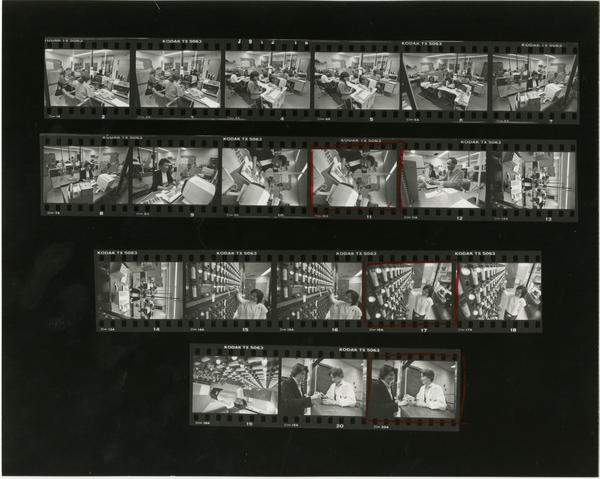 Contact sheet of Medical Center Communications (3/20/1985)