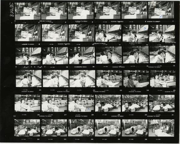Contact sheet of laundry service