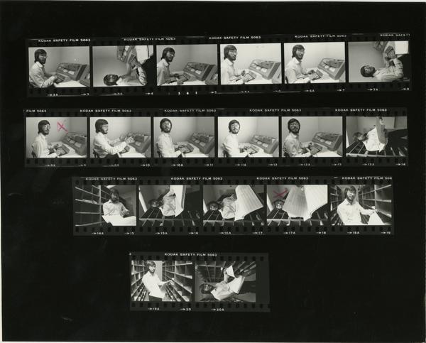 Contact sheet of School of Medicine - high technology (Tony Lehman) (Nov 1981)