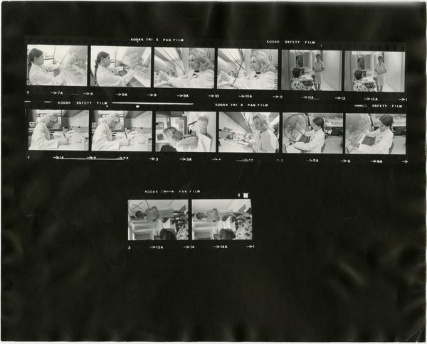 Contact sheet of Med Tech Oncology (10/28/1978)