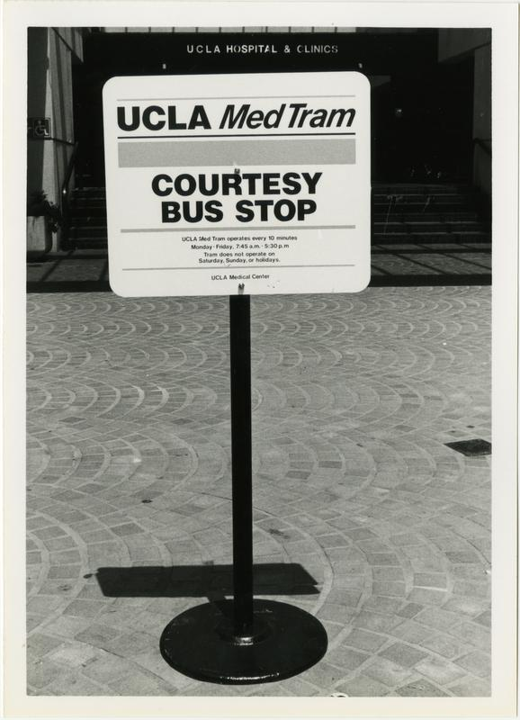 UCLA Med Tram Courtesy Bus Stop
