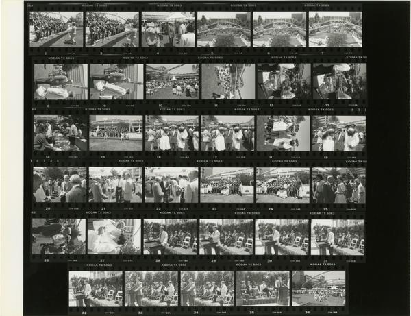 Contact sheet of Sherman Mellinkoff retirement party