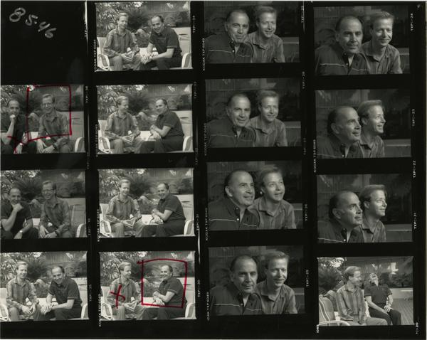 Contact sheet of Heart - Nick Micale / transplant with David Atkinson (1985)