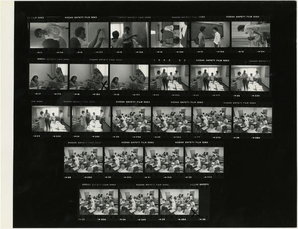 Contact sheet of Minority Recruitment Public Health (9/6/1984)
