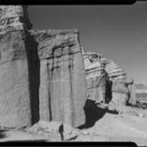 Scenic desert cliffs in Red Rock Canyon State Park, California, 1928