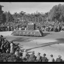 """""""Legend of King Arthur"""" float in the Tournament of Roses Parade, Pasadena, 1935"""