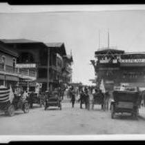 Pier Avenue and Fraser's Million Dollar Pier, Venice, 1908 or 1912