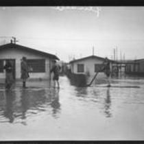 Storm- flooded residential area probably in Atwater Village near Glendale, Los Angeles 1927