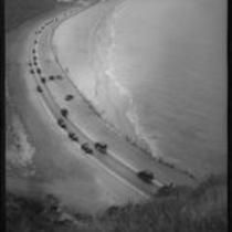 Aerial coastline view of the Rancho Malibu la Costa development area, Malibu, circa 1927