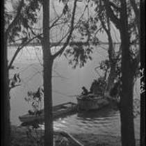 View towards small boats, Morro Bay, 1929